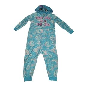 Justice Unicorn Of The Sea Hooded Onesie Blue